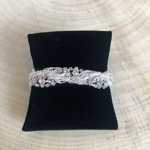 Crystal and Chain Braided Bracelet